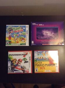 """Brand New Galaxy """"New"""" 3ds XL + 3 games"""