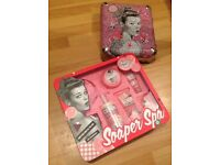 New soap and glory unopened set with metal carry case