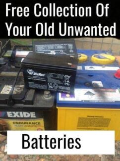 Free Collection Of Your Old Unwanted Batteries