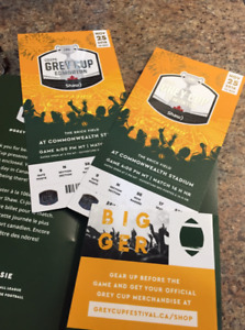 Grey Cup tickets (2) $500 for both - Sec N Row 58 Seats 17&18