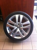 OEM VW rims with tires Kumho