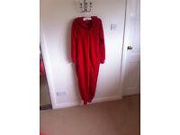 Fluffy Red Onesie, Size 8-10 - New