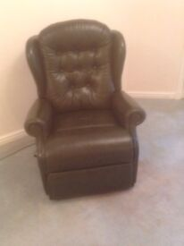 Leather mobility reclining chair