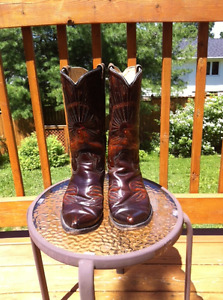 Texan Peacock Stitched Men's Cowboy boots Size 11 EE