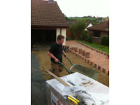 brick paving, flagging, curbing, walls, fencing, decking, shed, tractor, builder, landscaper, logs