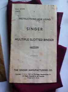 Singer sewing machine 1947