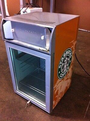 Heavy Duty Commercial Wglass Door Star Bucks Counter Top Cooler