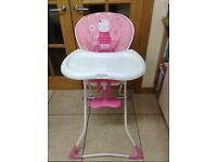 Girls high chair