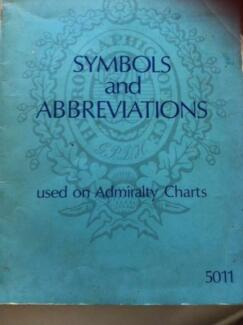 Symbols and Abbreviations used  on Admiralty Charts 1973 Book GC