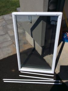 White Storm Window door Insert