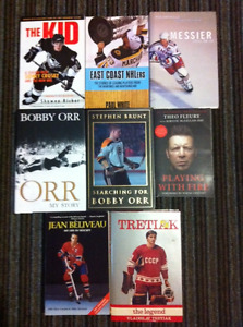 FOR THE HOCKEY FAN - 8 Awesome Hockey Books for sale.