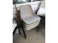 Vintage Hille stacking chairs