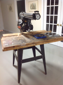 "Craftsman 10"" Radial Arm Saw with Extra Blades"