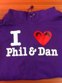 DAN & PHIL HOODY / HOODIE - YOUTH /ADULT - SIZE L - BRAND NEW