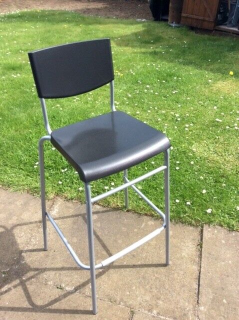 Superb 6 X Ikea Stig Bar Stool With Backrest Black Silver As New Condition 7 50 Each Or 30 For 6 In Trinity Edinburgh Gumtree Gmtry Best Dining Table And Chair Ideas Images Gmtryco