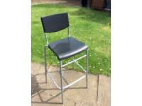 6 x IKEA STIG Bar stool with backrest Black/silver. As new condition. (£7.50 each or £30 for 6)