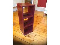 Brown shelves