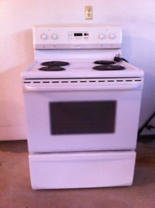 Frigidaire Electric Range and Range Hood