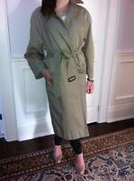 BURBERRY ladies trench coat - winter lining/detachable, SMALL!