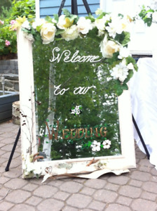Wedding Decor  Package  of  Welcome Mirror,  Arch and more