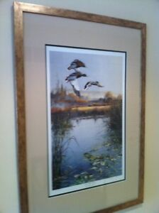 """L/E Artist Proof BY ANDREW KISS """"On The Wing"""" AP 89/100 Framed"""