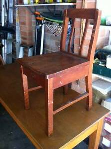 wooden chair New Lambton Heights Newcastle Area Preview