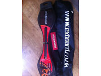 Exboard - with carry bag and strap in red and black (like new)
