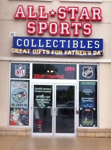 SPORTS COLLECTIBLES & MEMORABILIA STORE NHL-NFL-MLB