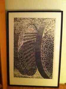 single cut woodblock print