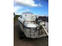 fishing/pleasure boat RYDS 435FC 2 berth cabin cruiser day boat 30hp el outboard engine motor