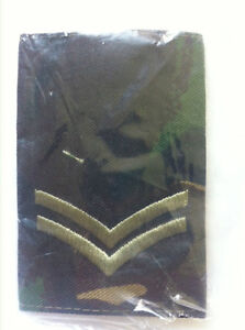 BRITISH ARMY , WOODLAND AND DESERT CAMOUFLAGE RANK SLIDES  BRAND NEW, EPAULETTES