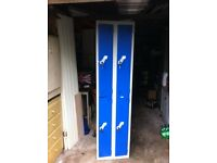 4 door metal storage locker with keys