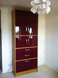 STORAGE CUPBOARD WITH FILING CABINET AND DRAWS - IKEA - FLATPACK, LARGE CUPBOARD