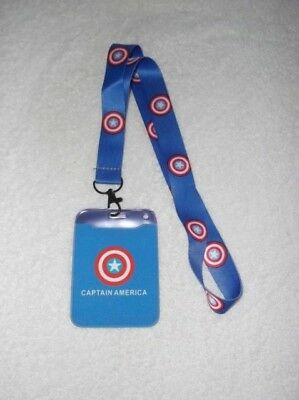 New CAPTAIN AMERICA LOGO LANYARD With ID PASS HOLDER A