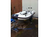 yam yamaha inflatable boat dinghy tender rib 3.0m 10ft fishing