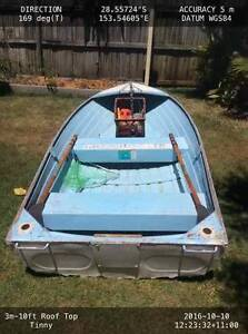 3m - 10ft Rooftop Tinnie & 3.5hp Motor Brunswick Heads Byron Area Preview