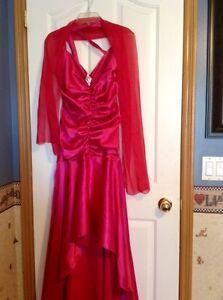 Criss Cross High-Low Prom/Grad Dress