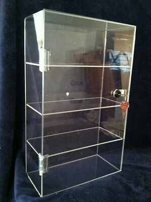 8 X 4.5 X 16.5 Plexiglass Display 8 Wide Acrylic Countertop Display Case