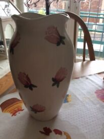 LARGE - 10 INCH HIGH - CHUNKY - PATTERNED - VASE