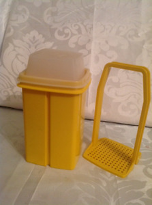 Vintage Yellow Tupperware Pickle Keeper Storage Container