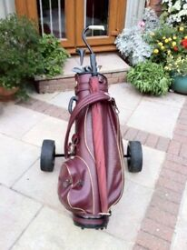 Beginners Golf Set includes Golf trolley,Wilson Bag,Mixed Irons