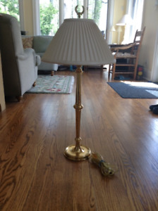 Brass Tall Table Lamps (2)