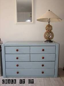 Large Light Blue Chest of Drawers / Dresser Varsity Lakes Gold Coast South Preview