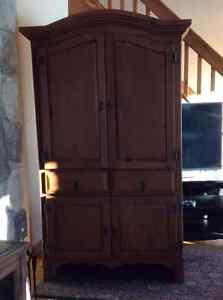 Rustic Pine Armoire or Entertainment Unit