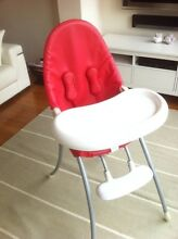 Bloom Nano Urban High Chair Red - $150 if collect by Wed 4/12/15 Balgowlah Heights Manly Area Preview
