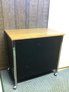 Storage or filing table on shephard casters excellent condition