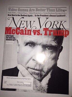 New York Magazine John McCain Vs Donald Trump March 5, 2017 040117NONRH