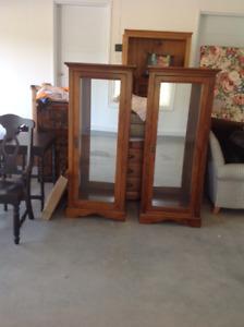 Custom Made display Cabinets  Mirrored back Glass Shelves