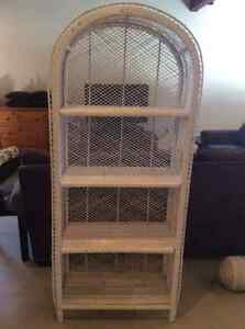 wicker shelf unit - 4 shelf