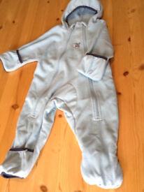 6-12 months fleece all-in-one Bush Baby snugbug (snowsuit / pramsuit)